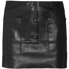 Acne Studios Koby leather mini skirt (20.110 RUB) ❤ liked on Polyvore featuring skirts, mini skirts, black, short skirts, mini skirt, leather skirt, stretchy mini skirts and real leather skirt