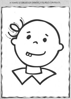 Dibujar el pelo de Tomás: motricidad fina | Material De Aprendizaje