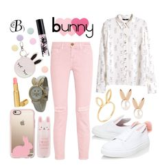 """""""*Bunny Style*"""" by nin-iko-nin ❤ liked on Polyvore featuring Olivia Pratt, Current/Elliott, H&M, Casetify, Minna Parikka, Jacquie Aiche, Aamaya by priyanka, Tony Moly, Too Faced Cosmetics and Sephora Collection"""