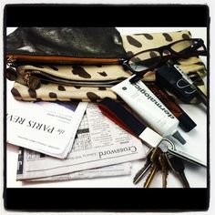 what's in my clare vivier clutch?