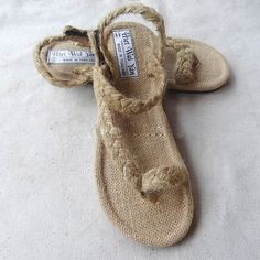 Summer sandals Handmade cloth shoes Cool hand woven straw