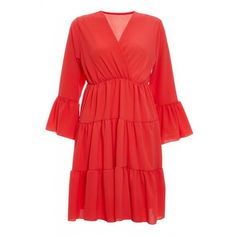 Quiz Ladies Coral Crepe V Neck Swing Dress - Coral   Buy Online in South Africa   takealot.com Swing Dress, South Africa, Coral, V Neck, Lady, Stuff To Buy, Dresses, Fashion, Vestidos