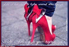 Confidence quote via www.Facebook.com/WildWickedWomen