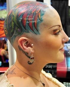 Cool Head Tattoos for Women | Styles Time #hairdare