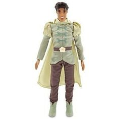 Disney The Princess and the Frog Prince Naveen Doll -- 12'' by Disney. $17.05. Disney The Frog Prince Naveen. Disney Dolls. Deluxe costume includes green satin jacket with detachable cape Fully poseablePlastic/polyester12'' HImportedAges 3+