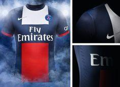 Camisa titular do PSG 2013-2014 - Novas camisas dos times europeus
