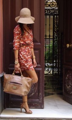 Love this look...dress would need to be a little longer perhaps! Love the purse!!!