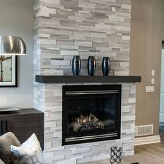 30 Stunning Fireplace Tile Ideas for Your Home #Interior Design #