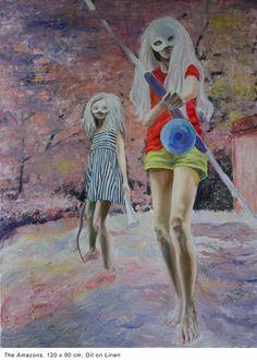 Magda Vacariu Contemporary Portrait Painter Artist Painter Artist, Princess Zelda, Contemporary, Portrait, Painting, Fictional Characters, Headshot Photography, Painting Art, Portrait Paintings