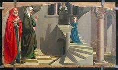 Nicolas Dipre, Retable de la cathédrale Saint-Siffrein de Carpentras : Présentation de la Vierge au Temple (Carpentràs 1499, Musée du Louvre, Paris).