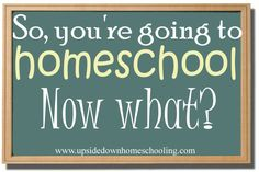 So, you're going to homeschool. Now What?