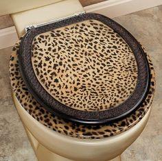 Cheetah Themed Rooms | Cheetah Bathroom Set Toilet Seat Cheetah Bathroom Set  Beautiful Animal .