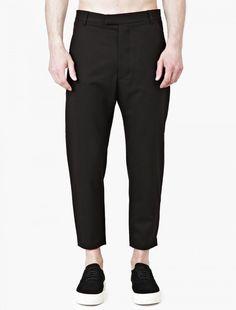 Matthew Miller,Black Cropped Marlboro Trouser,BLUE,0