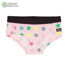 2d9ba8c4a3aa25 Diagonal Stars Rose Briefs - 1 Left Size 6-8 years. Diagonal Stars Rose  Briefs from Sweden's Villervalla in Organic Cotton.