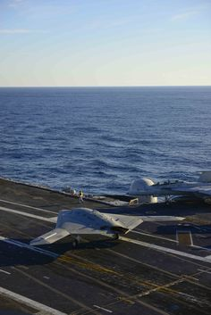 X-47B, a UAV (drone) that can launch from and land on aircraft carriers.