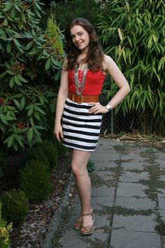Adventures in Dressmaking: Black and white stripe upcycle: Shirt into skirt!