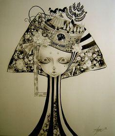 aya kato - Alice in Wonderland, Dream and Nightmare 2006  cheval noir