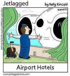At least the hotel room is close to the airport 😜✈️ Flight Attendant Quotes, Airline Humor, Aviation Humor, Airline Reservations, Airport Hotel, Jet Lag, United Airlines, Cabin Crew, Fun Comics