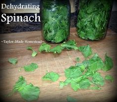 I dehydrate fresh spinach to enjoy later in the season - I loved the results! Best Cooking Oil, How To Cook Asparagus, Mother Earth News, Super Greens, Dehydrated Food, Dehydrator Recipes, All You Can, Cheap Meals, Real Food Recipes