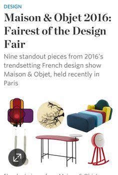 New York's Wallstreet Journal report on Maison & Objet Paris 2016 Ligne Roset, Design Show, Highlights, Collections, Journal, Paris, Montmartre Paris, Luminizer, Paris France