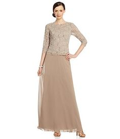 Alex Evenings Sequined Lace & Chiffon Gown | Dillard's Mobile