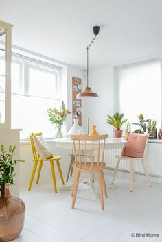 The Interior Design Of Souraya Hassan | Eclectic modern, colorful scandinavian dining room