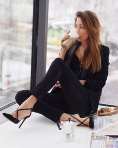 Black Suited Chic Style