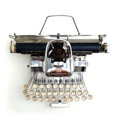 Skeletal typewriter.