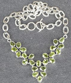 Peridot Jewellery – Precious Sterling Silver Peridot Necklace MJ-01 – a unique product by Midas-Jewelry on DaWanda
