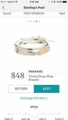 I have been looking for a druzy bracelet and would love this exact one in my Fix, please!