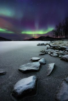 Astrophotos Arild Heitmann Premium Thick-Wrap Canvas Wall Art Print entitled Aurora Borealis over Sandvannet Lake in Troms County, Norway, None - All Nature, Science Nature, Norway Nature, Thing 1, Places To See, Fine Art America, Northern Lights, Beautiful Pictures, Scenery
