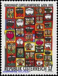 Friedensreich Hundertwasser Briefmarke von 1993
