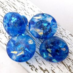 BEACH HOUSE BLUE Glass Cabinet Hardware Knobs By TorchLakeGlass