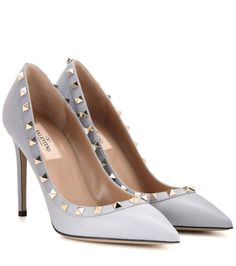 mytheresa.com -  Rockstud leather pumps - Shoes - Luxury Fashion for Women / Designer clothing, shoes, bags