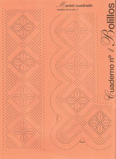 patron                                                                                                                                                                                 Más Bobbin Lace Patterns, Knitting Patterns, Crochet Borders, Tatting, Diy And Crafts, Crafty, How To Make, Cake Ideas, Albums
