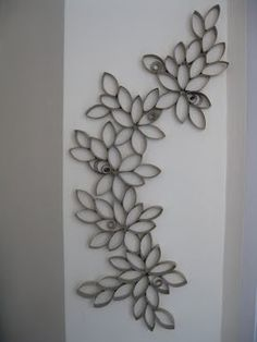toilet paper roll art, going on my high wall in my bedroom :)