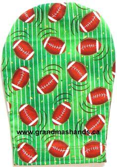 Grandma's Hands Cotton Football Ostomy Bag Cover