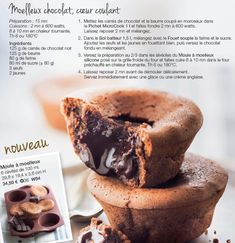 moelleux chocolat coeur coulant Sweet Recipes, Cake Recipes, Dessert Recipes, Mousse, Cooking Chef, Cake Cookies, Food And Drink, Sweets, Snacks