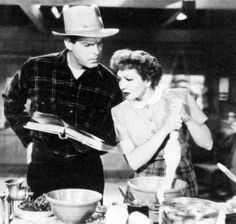 """Claudette Colbert, Fred MacMurray in """"The Egg and I"""" (1947)"""