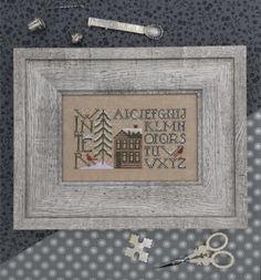 "THE DRAWN THREAD ""Simply Winter"" | Winter Season Cross Stitch Pattern by Cynthia Zittel | Snow, Cardinals, Cabin, Woods, Alphabet by NeedleCaseGoodies on Etsy"