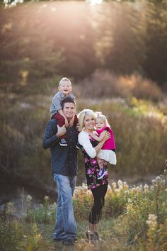 Family of four pose. //ShaiLynn Photography: Fall Family Photos