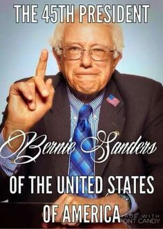 The 45th President of the United States Of America #BernieSanders  Human rights ambassadors change the world, become on at http://www.fuzeus.com