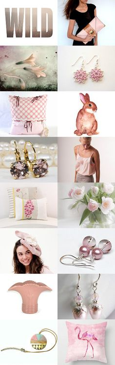 Go a Little Wild with Pink by Linda Karen on Etsy-- featuring my pink beaded earrings #acbeadsjewellery