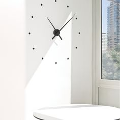 Minimalist large wall clock. Dots can be replaced with anything Nomon - OJ Clock - Grey