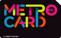 The Metrocard Project by Melanie Chernock, via Behance