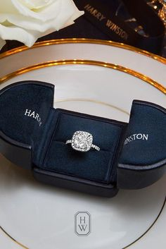Diamond Engagement Rings Harry Winston engagement rings are the finest in the world. He creates incredible diamond engagement rings which available in classic and modern designs. Harry Winston Engagement Rings, Big Engagement Rings, Beautiful Engagement Rings, Beautiful Rings, Wedding Engagement, Solitaire Engagement, Cushion Cut Engagement Rings, Halo Wedding Rings, Wedding Band