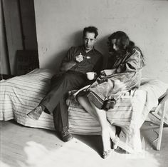 Der Fotograf Robert Frank und seine Frau Mary; Foto: Landshoff, Hermann (1956)