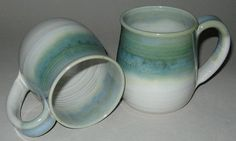 Pottery Mug1012 oz in Copper Green and White by ConchoCreekPottery, $16.00