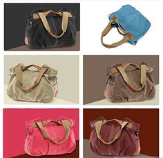 ARM CANDY Handy Natural Canvas Handbag w/ FREE RFID Credit Card Protector Case @Crowdz