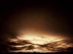 Sunset over Lynden — sepia version.